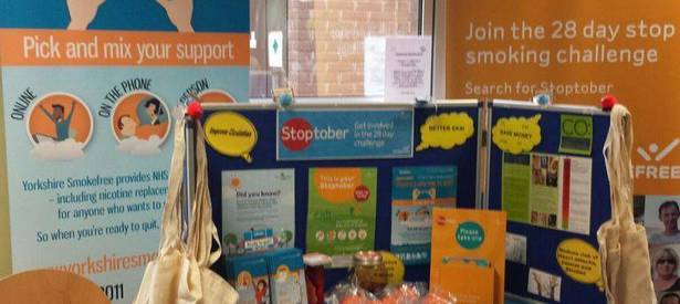 Check out our Stoptober set-up in Barnsley Hospital